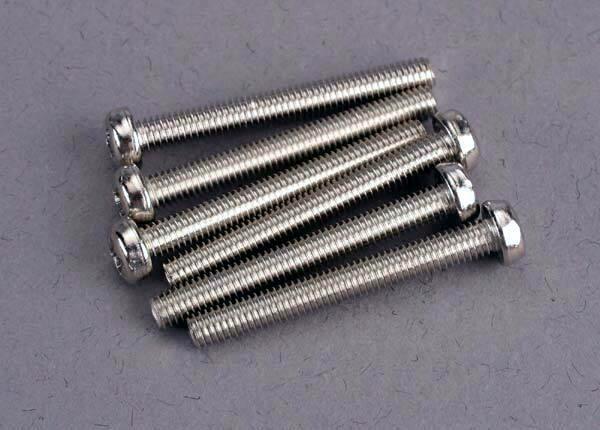 Screws, 3x25mm roundhead machine @ (6)