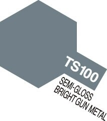 TS-100 Semi-Gloss Bright Gun Metal 100ml Spray Can