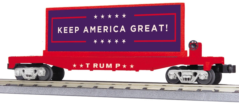O Donald J. Trump Flat Car w/ Billboard