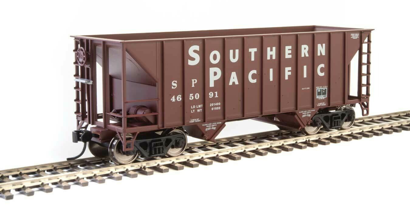 34' 100-Ton 2-Bay Hopper - Ready to Run -- Southern Pacific(TM) #465091