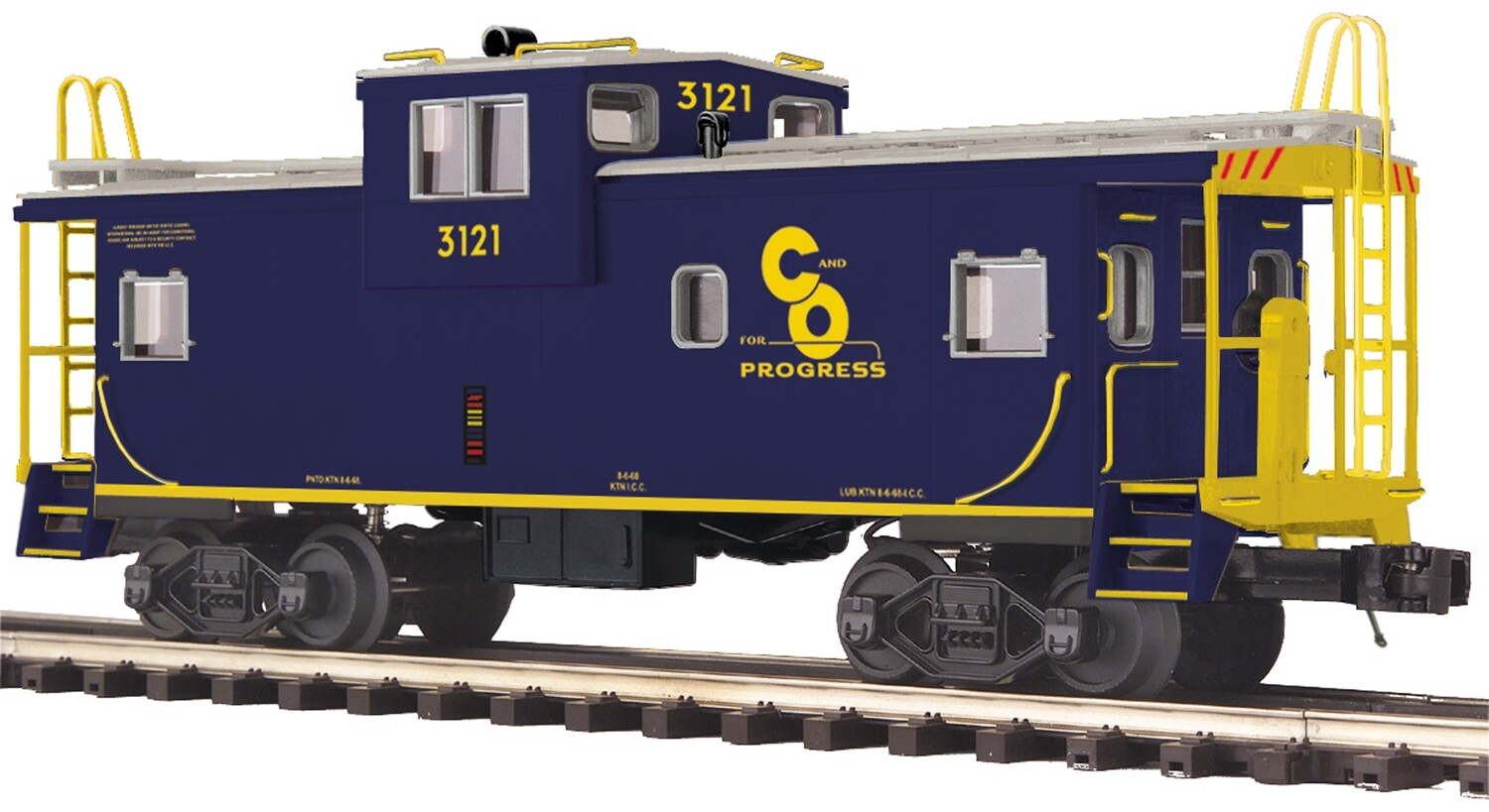 O Extended Vision Caboose, C&O #3121