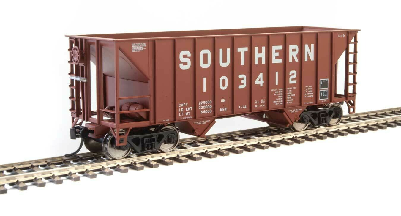 34' 100-Ton 2-Bay Hopper - Ready to Run -- Southern Railway #103412 (Brown)