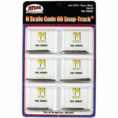 N Code 80 Rail Joiners