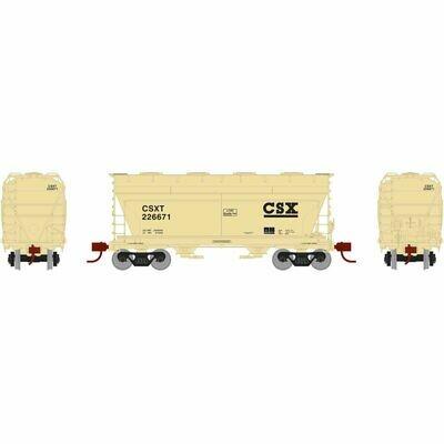 HO RTR ACF 2970 Covered Hopper, CSX/Tan #226684