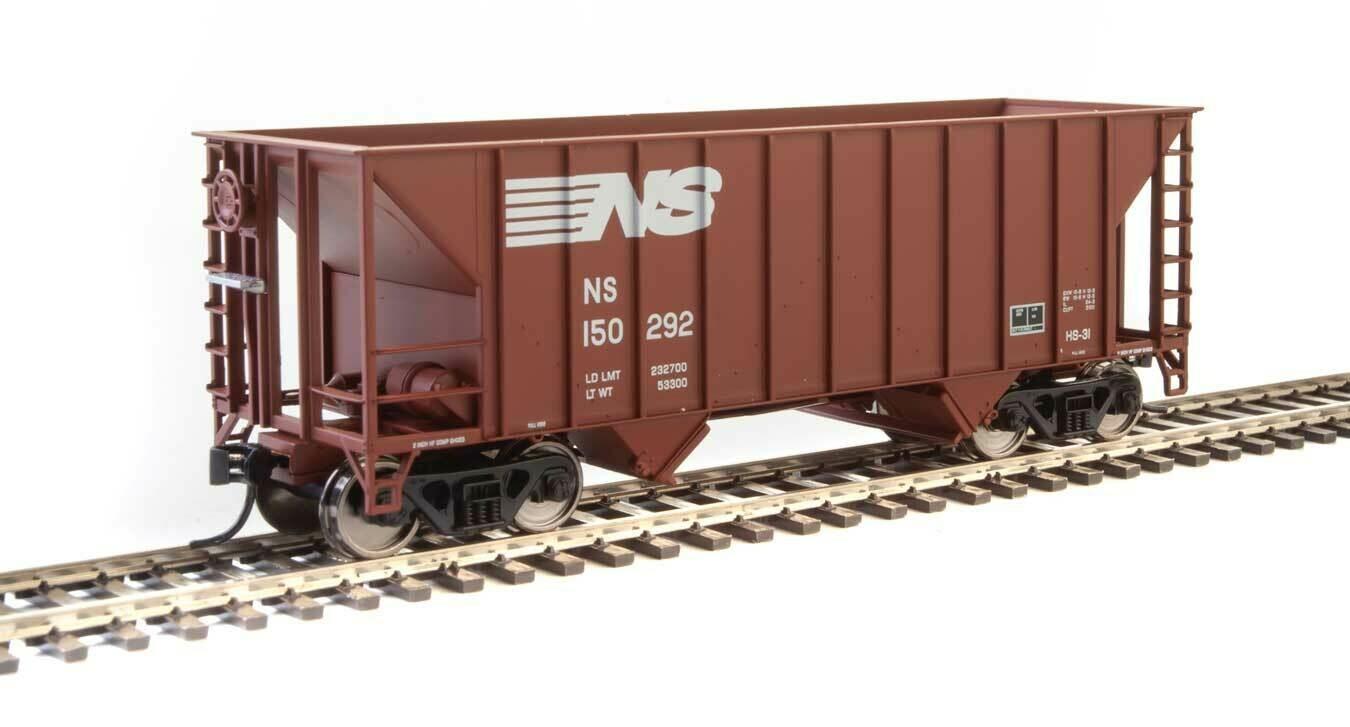 34' 100-Ton 2-Bay Hopper - Ready to Run -- Norfolk Southern #150292