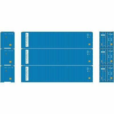 HO RTR 40' Hi-Cube Containers, SBD (3)