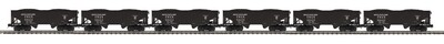 O 6-Car Flat End Offset Hopper Car Set, B&O 727024