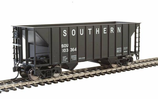 34' 100-Ton 2-Bay Hopper - Ready to Run -- Southern Railway #103364 (Black)