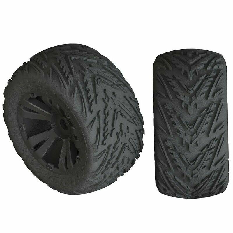 AR550049 Minokawa LP 4S Tire 3.8 Glued Black (2)