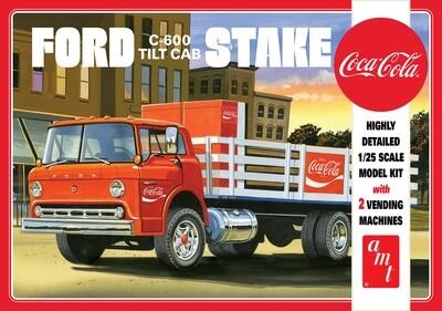 1/25 Ford C600 Stake Bed w/Coca-Cola Machine