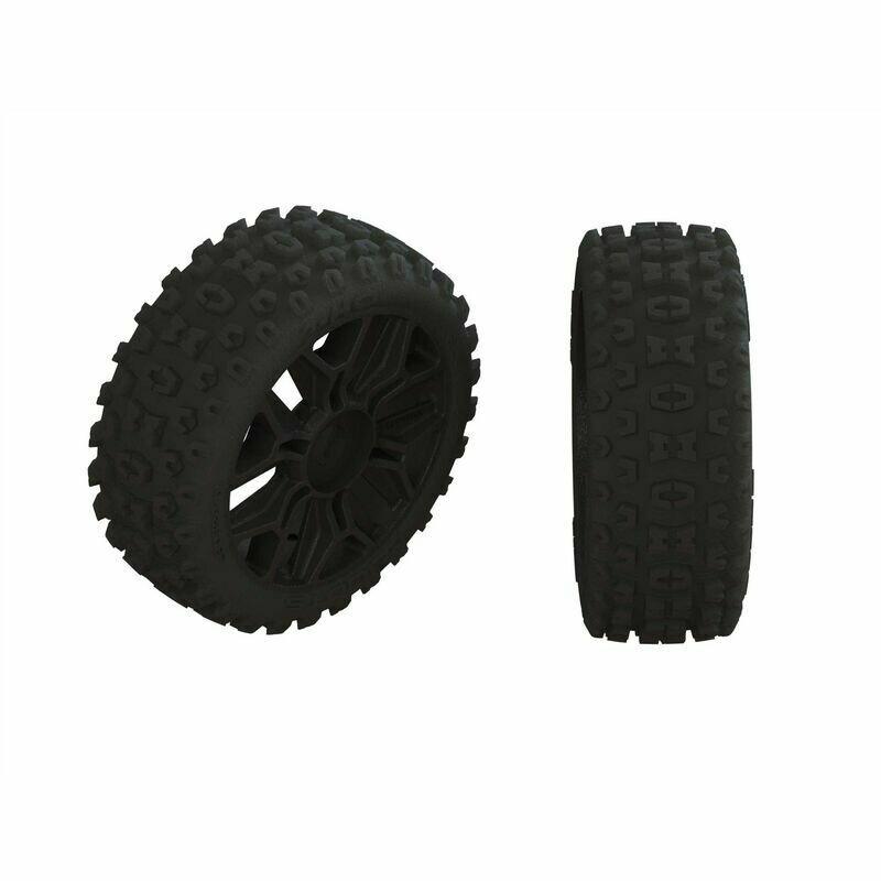 AR550057 2HO Tire Set Glued Black (2)