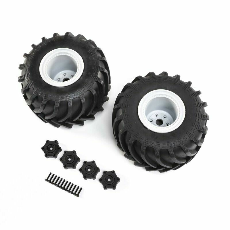 Mounted Monster Truck Tires, L/R: LMT