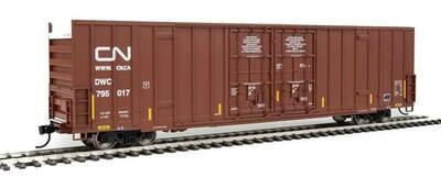 60' High-Cube Plate F Boxcar - Ready to Run -- Canadian National DWC #795151 (Boxcar Red, Website Noodle Logo)