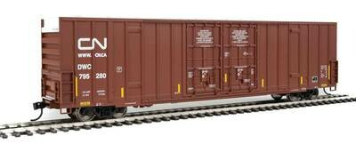 60' High-Cube Plate F Boxcar - Ready to Run -- Canadian National DWC #795280 (Boxcar Red, Website Noodle Logo)