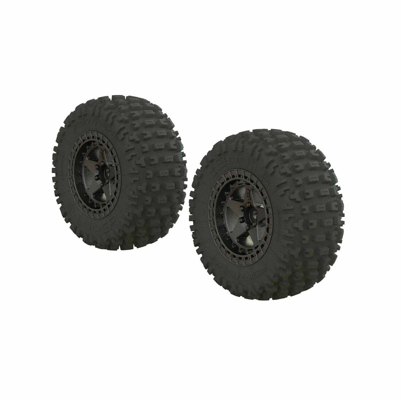 Dboots 'Fortress SC' Tire Set Glued Gun Metal (2)