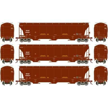 HO Trinity 3-Bay Hopper, BNSF/Bland Repaint (3)