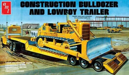 1/25 Lowboy Trailer & Bulldozer Combo