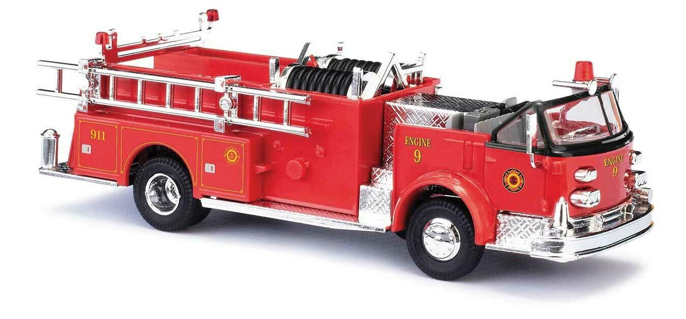 1968 American LaFrance Open-Cab Pumper - Assembled -- Fire Department (red, black)