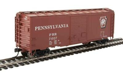 40' ACF Welded Boxcar w/8' Youngstown Door - Ready to Run -- Pennsylvania Railroad #71027