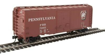 40' ACF Welded Boxcar w/8' Youngstown Door - Ready to Run -- Pennsylvania Railroad #70955