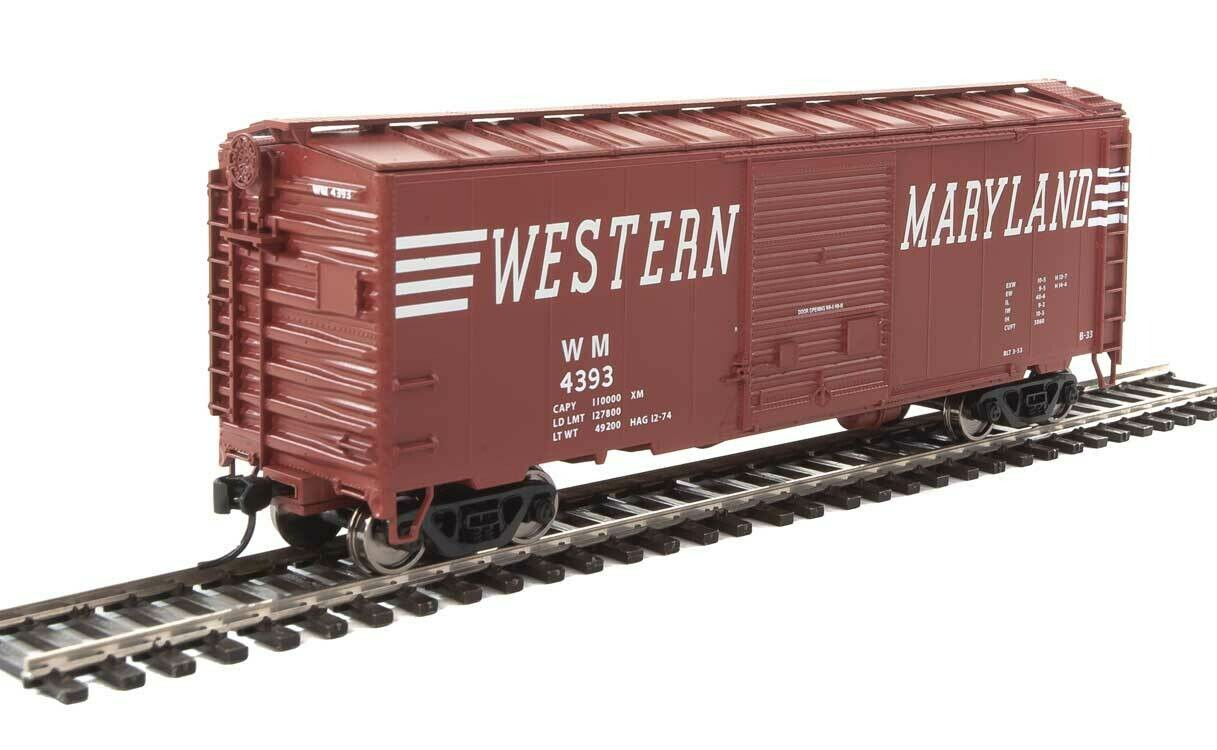 40' ACF Welded Boxcar w/8' Youngstown Door - Ready to Run -- Western Maryland #4393