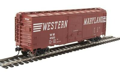40' ACF Welded Boxcar w/8' Youngstown Door - Ready to Run -- Western Maryland #4420