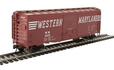 40' ACF Welded Boxcar w/8' Youngstown Door - Ready to Run -- Western Maryland #4205
