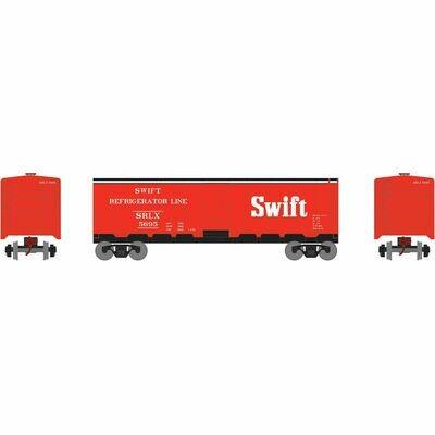 HO 40' Steel Reefer, Swift #5695