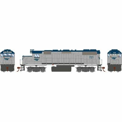 HO GP38-2 w/DCC Decoder, Amtrak #721