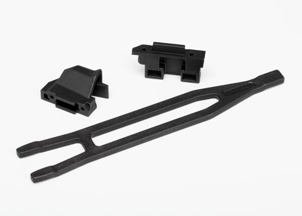 Battery hold-down (1)/ hold-down retainer, front & rear (1 each)