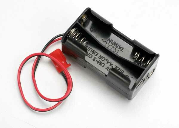Battery holder, 4-cell (no on/off switch) (for Jato and others that use a male Futaba style connector)