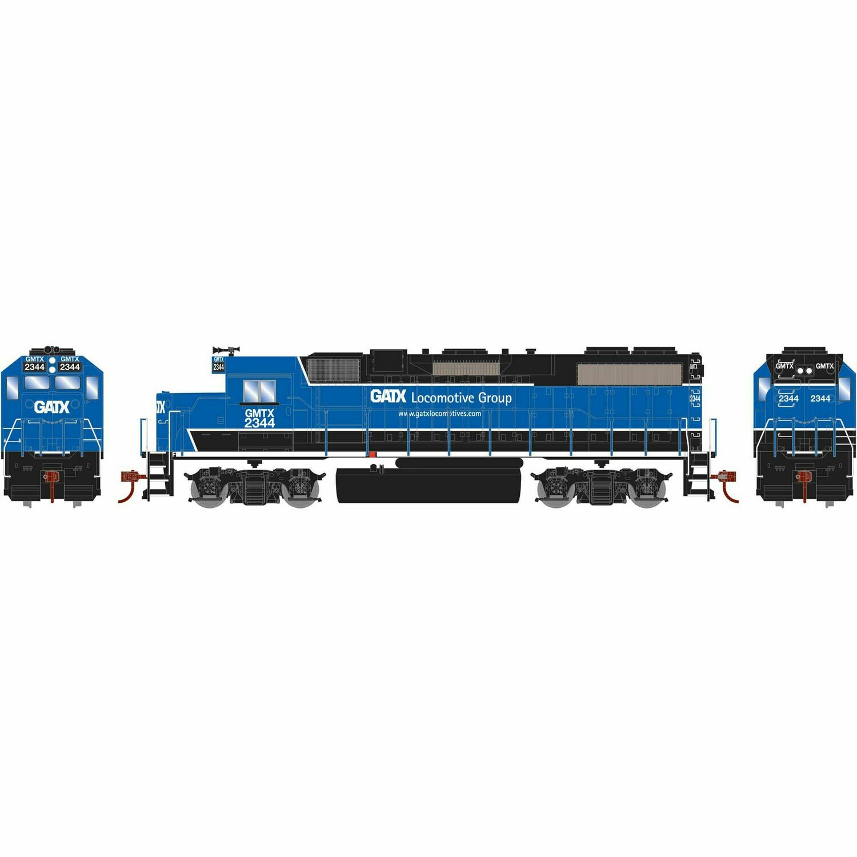 HO GP38-2 w/DCC Decoder, GATX/Black and Blue #2344