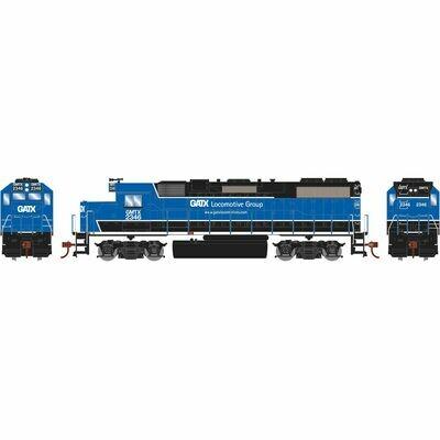 HO GP38-2 w/DCC Decoder, GATX/Black and Blue #2346