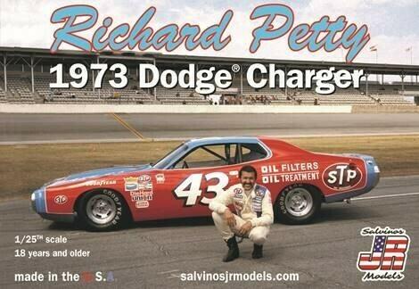1/24 Richard Petty #43 1973 Dodge Charger Race  Car