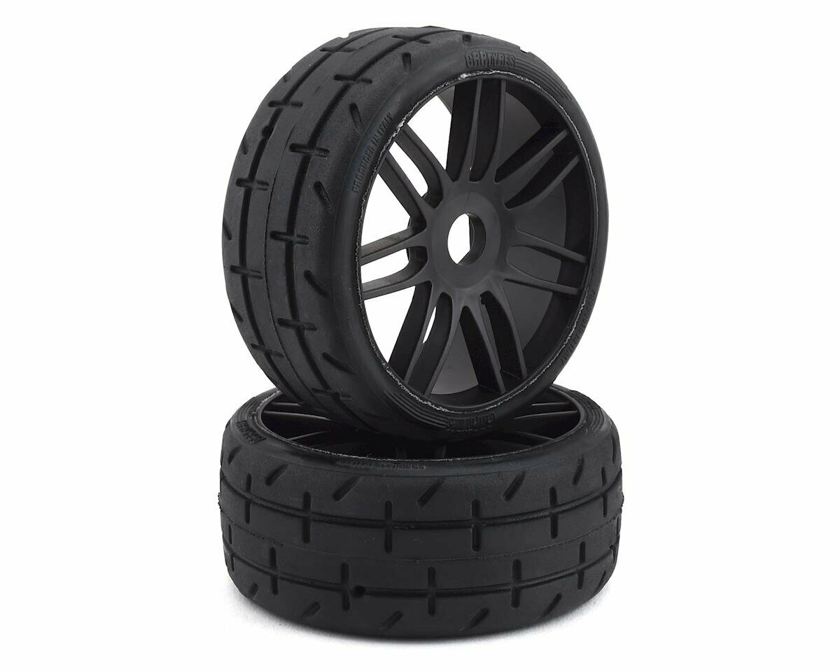 GRP GT - TO1 Revo Belted Pre-Mounted 1/8 Buggy Tires (Black) (2) (S7) w/17mm Hex