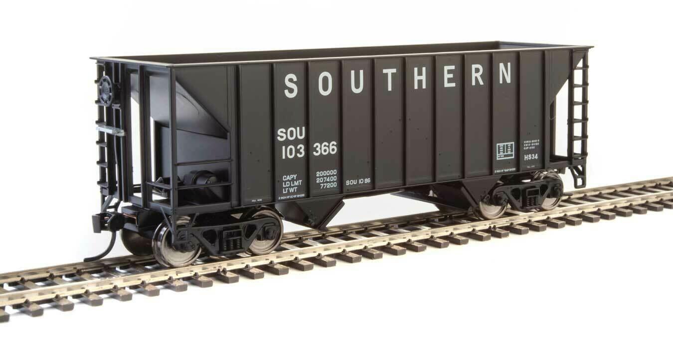 34' 100-Ton 2-Bay Hopper - Ready to Run -- Southern Railway #103366 (Black)