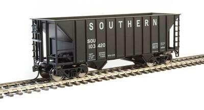 34' 100-Ton 2-Bay Hopper - Ready to Run -- Southern Railway #103420 (Black)