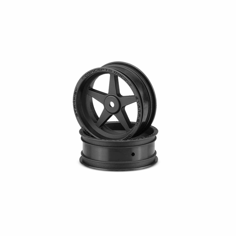 "JConcepts Starfish Street Eliminator 2.2"" Front Drag Racing Wheels (Black) (2) w/12mm Hex"