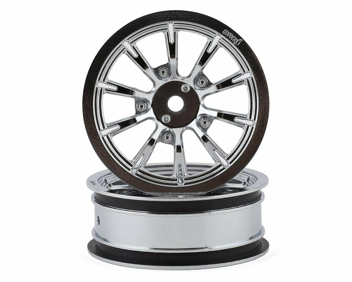 """DragRace Concepts AXIS 2.2"""" Drag Racing Front Wheels w/12mm Hex (Chrome) (2)"""