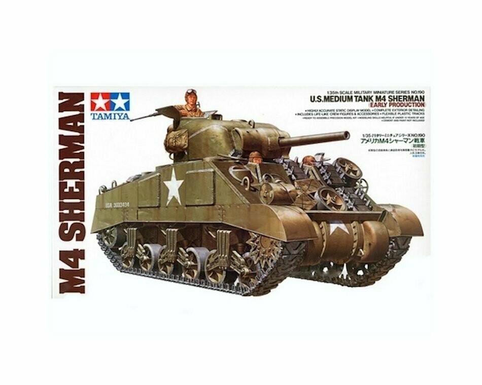 1/35 M4 Sherman Tank Early Plastic Model