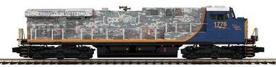 MTH Premier ES44AC Diesel Engine w/ProtoSound 3.0(Hi-Rail Wheels)-CSX(Veterans) Cab No. 1776