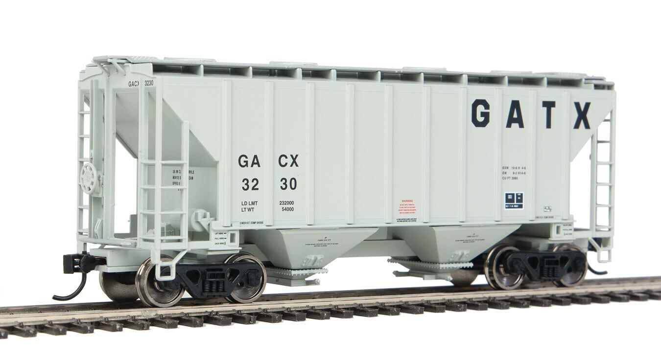 37' 2980 Cubic-Foot 2-Bay Covered Hopper - Ready to Run -- GATX #3230