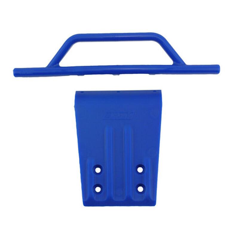 BLUE FRONT BUMPER/SKID PLATE