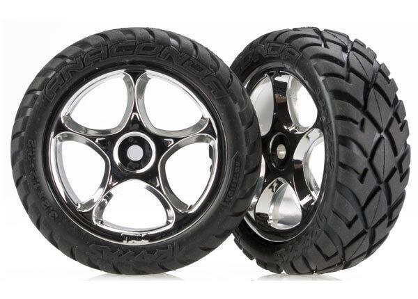 Tires & wheels, assembled (Tracer 2.2' chrome wheels, Anaconda