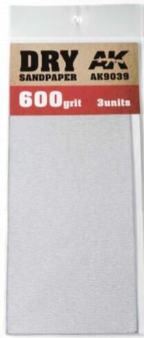 Dry Sandpaper Sheets 600 Grit (3)