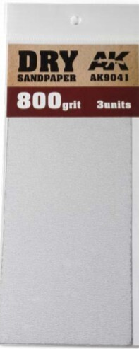 Dry Sandpaper Sheets 800 Grit (3)
