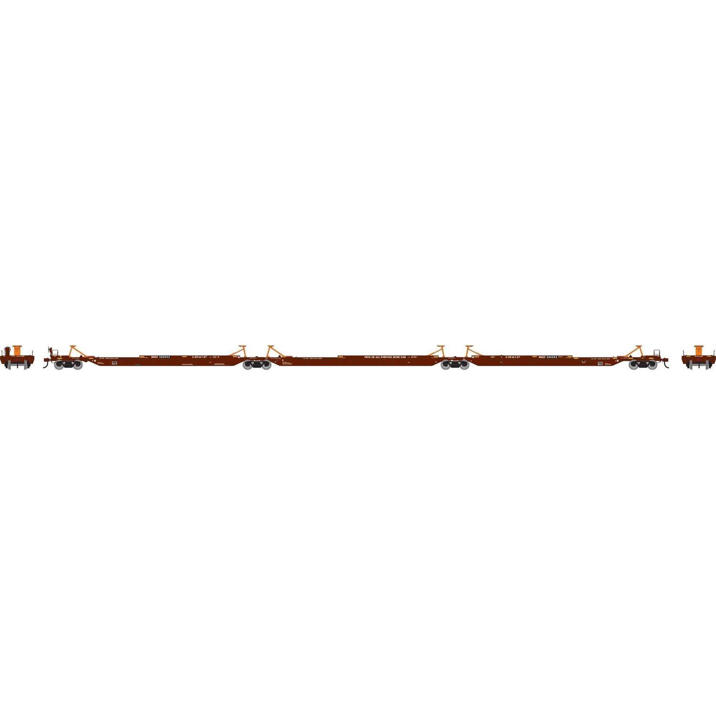 HO RTR 57' Trinity Spine Car, BNSF #300592