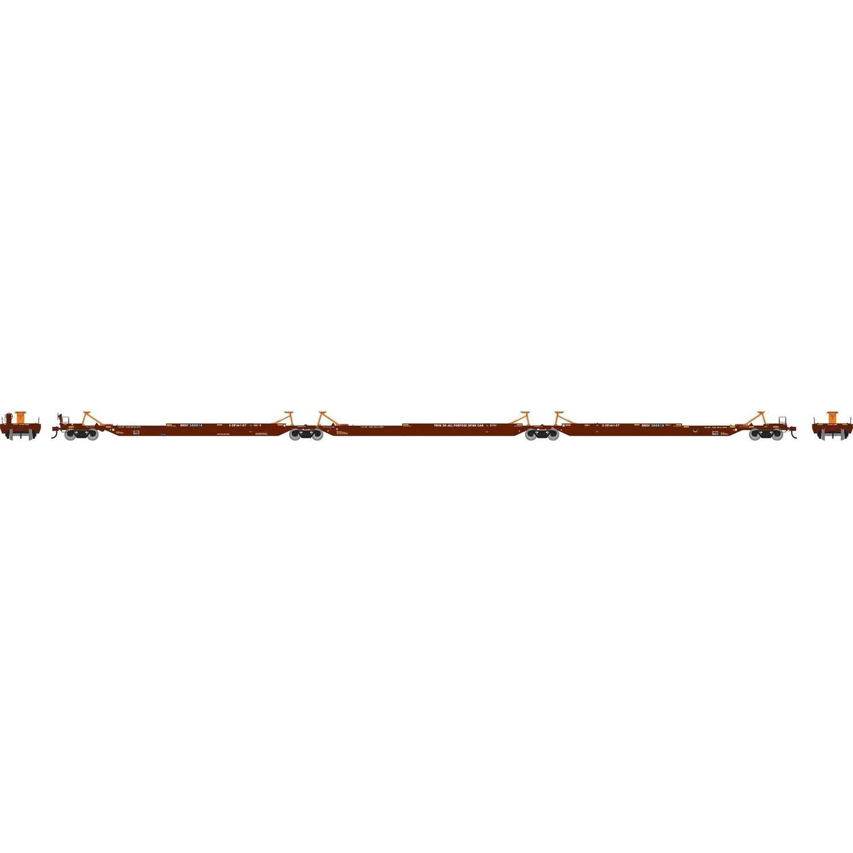 HO RTR 57' Trinity Spine Car, BNSF #300518