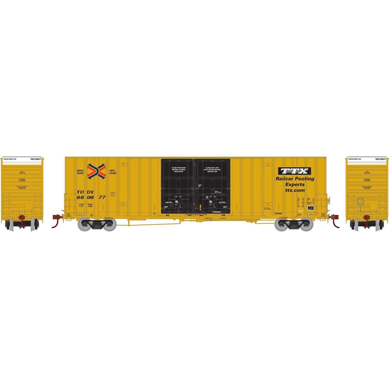 HO RTR 60' Gunderson Box, RBOX/TTX #660677