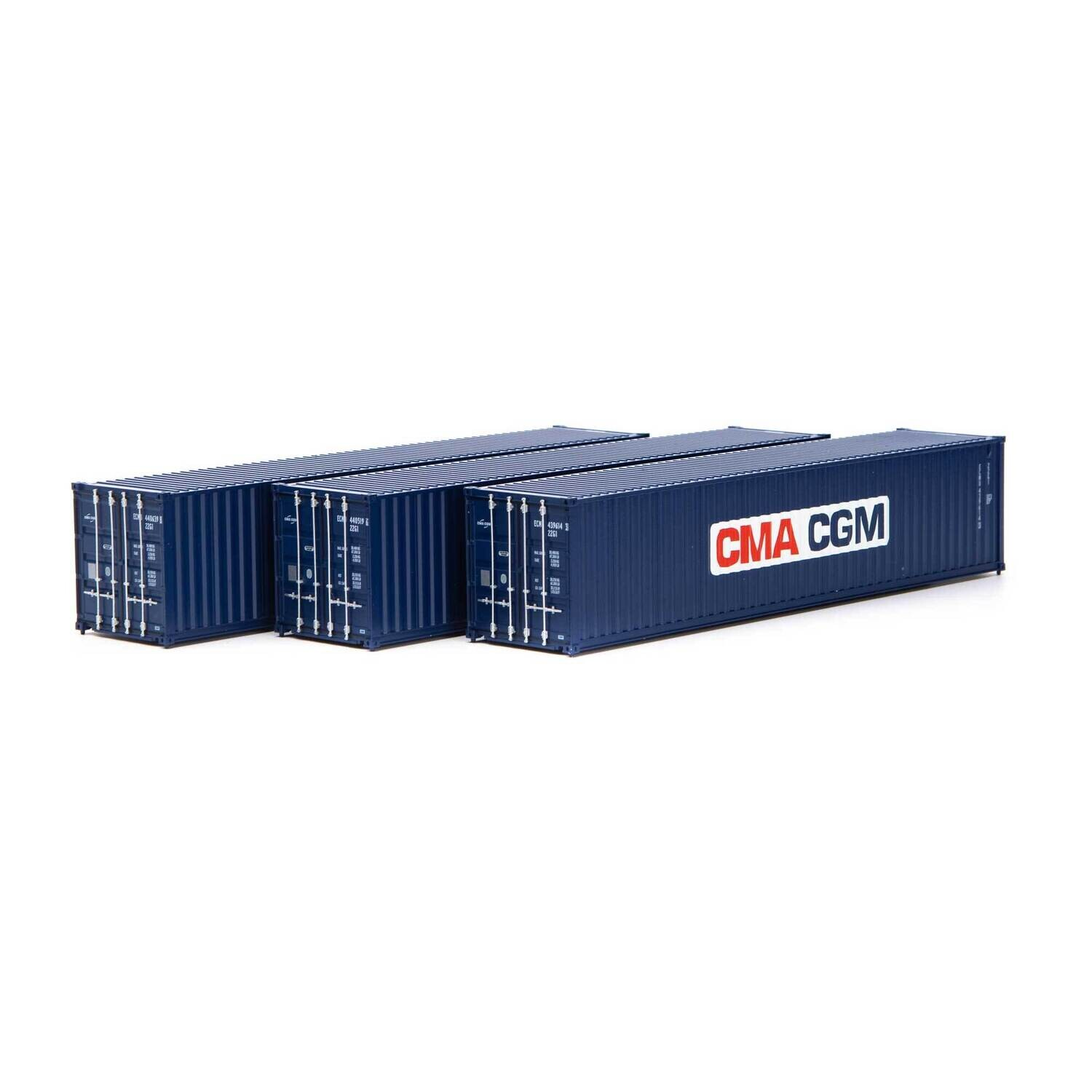 HO RTR 40' Low-Cube Container, CMA-CGM (3)